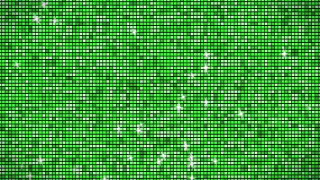 green glitter wall loopable - pixelated stock videos and b-roll footage