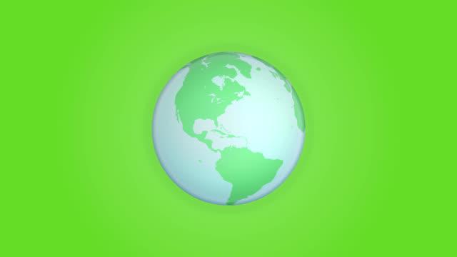 green globe. loop - spinning stock videos & royalty-free footage