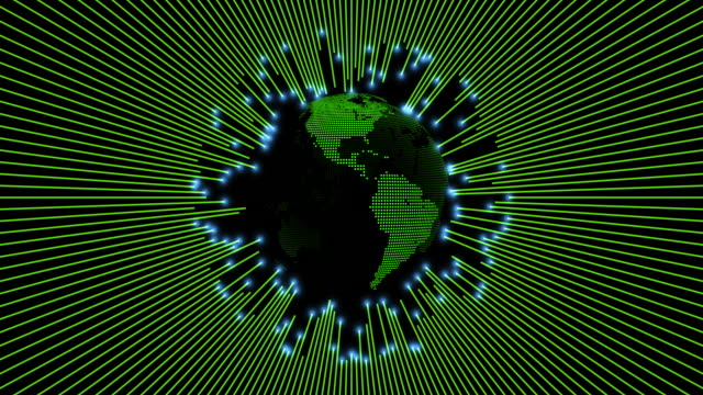 green globe with moving connection lines - seamless pattern stock videos & royalty-free footage