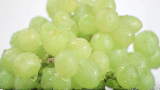 green grapes in super slow motion being soaked - grape stock videos & royalty-free footage