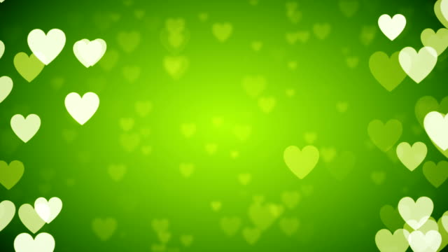green heart background (loopable) - fame stock videos & royalty-free footage