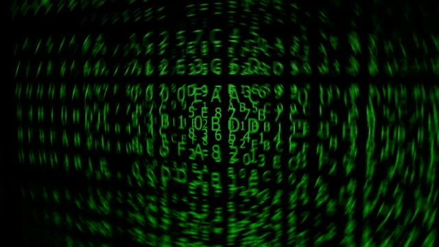 Green Hexadecimal Codes, blurred