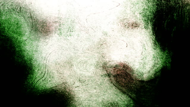 green high contrasted blizzard grungy and dirty, animated, distressed and smudged stormy sky, clouds 4k video background with swirls and frame by frame motion feel with van gogh style - smudged stock videos & royalty-free footage