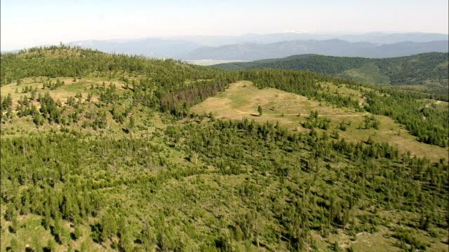 Verde paisagem de Missoula County-Vista aérea-Montana, Condado de Missoula, Estados Unidos