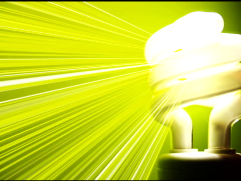 green light bulb - energy efficient lightbulb stock videos & royalty-free footage