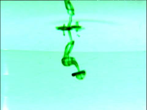 vidéos et rushes de green liquid dispersing in water - répandre