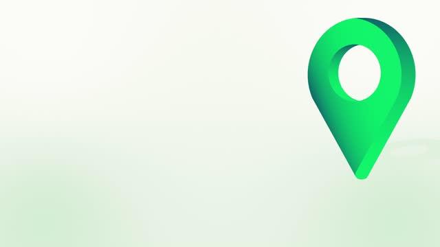 grüne position pin pointer animiertes cartoon-symbol - wegweiser stock-videos und b-roll-filmmaterial