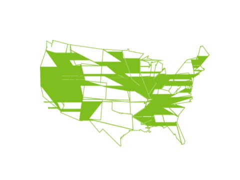 Green Map of the United States of America