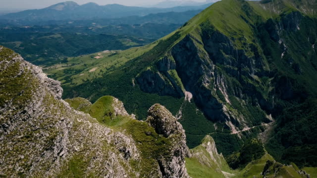 Green mountains in Summer season in Italy
