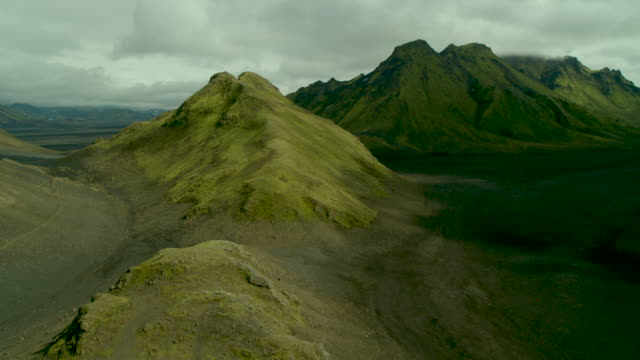 green mountains of iceland - iceland stock videos & royalty-free footage