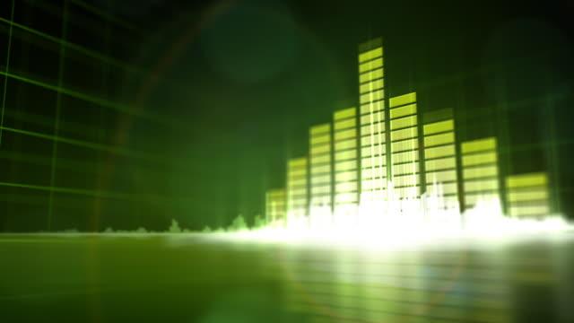 グリーンの音楽を背景にしています。hd ます。ループ - 音響機器点の映像素材/bロール