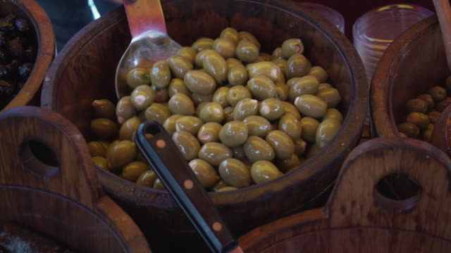 green olives - vegetarian food stock videos & royalty-free footage