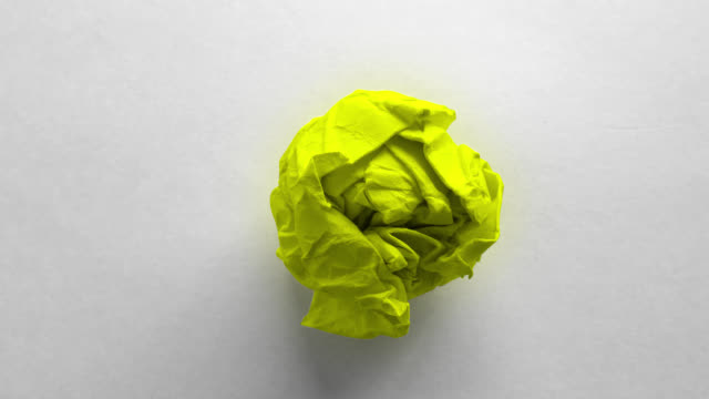 green paper ball wrinkled - crumpled paper stock videos and b-roll footage