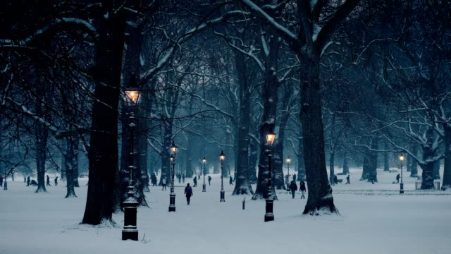 green park covered in snow, london, uk - snow stock videos & royalty-free footage
