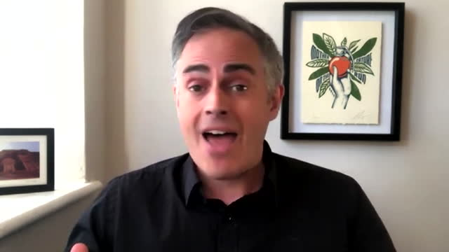 """green party co-leader jonathan bartley saying the party opposes coronavirus vaccine passports - """"bbc news"""" stock videos & royalty-free footage"""
