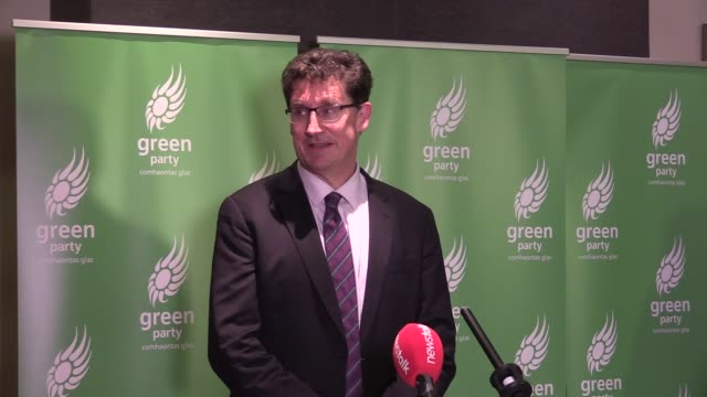 green party leader eamon ryan speaks to the media after a narrow win following leadership contest party members have been asked to stick with the... - narrow stock videos & royalty-free footage