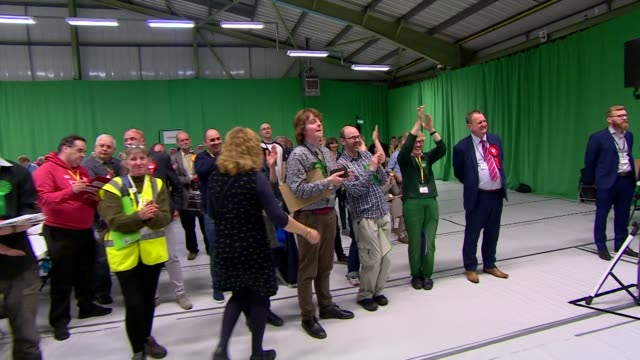 green party members celebrating success in the local elections - green party stock videos and b-roll footage