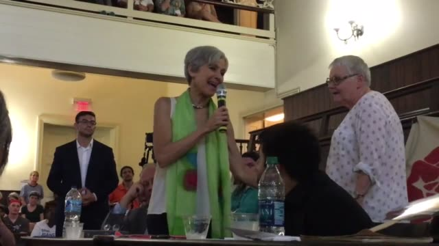 green party presidential candidate jill stein delivers a speech at the socialist convergence in philadelphia - jill stein stock videos and b-roll footage