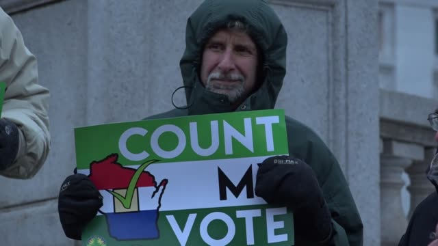 green party presidential candidate jill stein launched the count my vote campaign in wisconsin on tuesday just weeks after the conclusion of the... - jill stein stock videos and b-roll footage