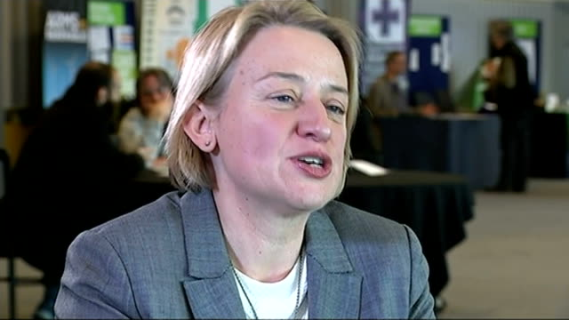 green party spring conference begins natalie bennett interview sot [you don't ooze credibility as a party] we haven't been there before in terms of... - green party stock videos and b-roll footage