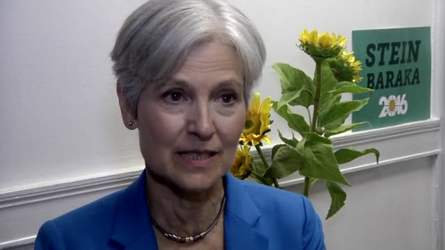 green party us presidential candidate jill stein speaks to afp about her recent visit to the site of protests against the dakota access pipeline in... - beer stein stock videos and b-roll footage