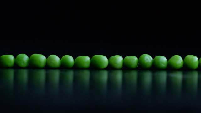 Green Pea Army Line Formation