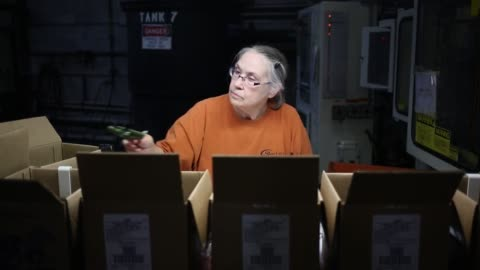 green plastic army men are manufactured by j.k. manufacturing co. in kalkaska, michigan u.s., on wednesday, dec. 7, 2016. shots: army men being... - window box stock videos & royalty-free footage