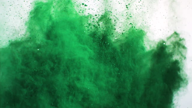 green powder explosion - green color stock videos & royalty-free footage