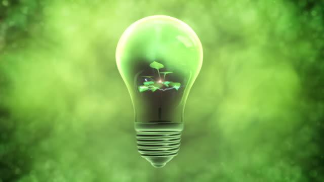 Green Power Light Bulb (Centered)