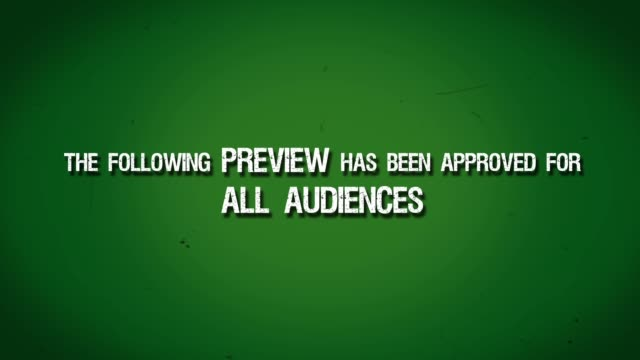 Green Preview Screen Title Leader - Film Approved for All Audiences
