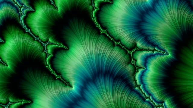 vidéos et rushes de green psychedelic motion background like plants - fleur