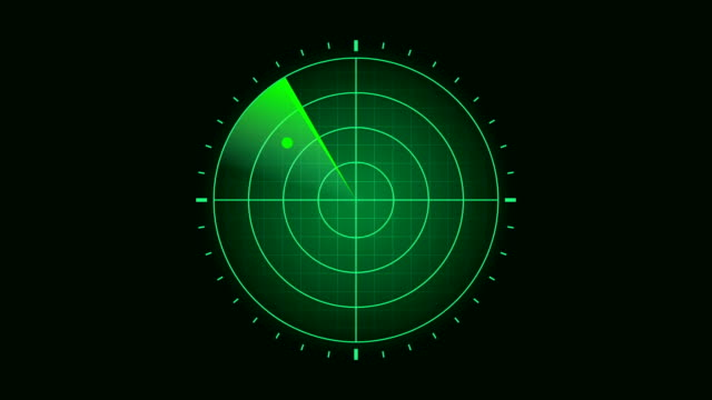 green radar screen scanning surrounding and incoming aerial traffic - aiming stock videos & royalty-free footage