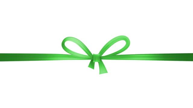 green ribbon - ribbon sewing item stock videos & royalty-free footage