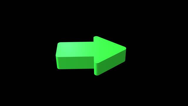 green right arrow alpha channel - 4k footage - arrow symbol stock videos & royalty-free footage