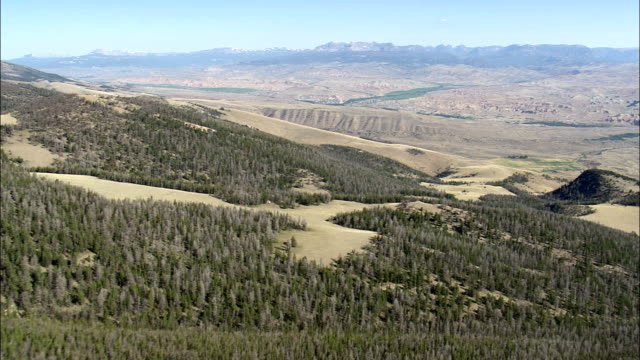 green river on the continental divide  - aerial view - wyoming,  sublette county,  helicopter filming,  aerial video,  cineflex,  establishing shot,  united states - river green stock videos & royalty-free footage