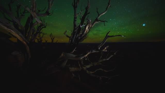 green river overlook nighttime time lapse - ユタ州モアブ点の映像素材/bロール