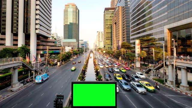 green screen billboard at night - billboard stock videos & royalty-free footage