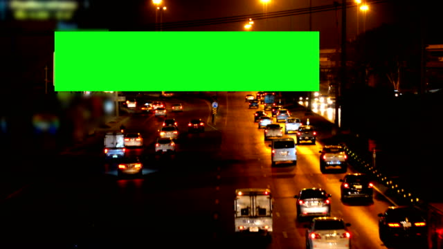 green screen billboard in bangkok - billboard stock videos & royalty-free footage