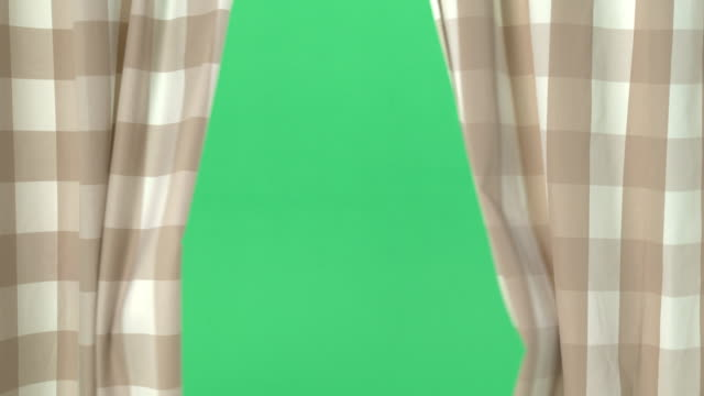 Green Screen - Curtains opening