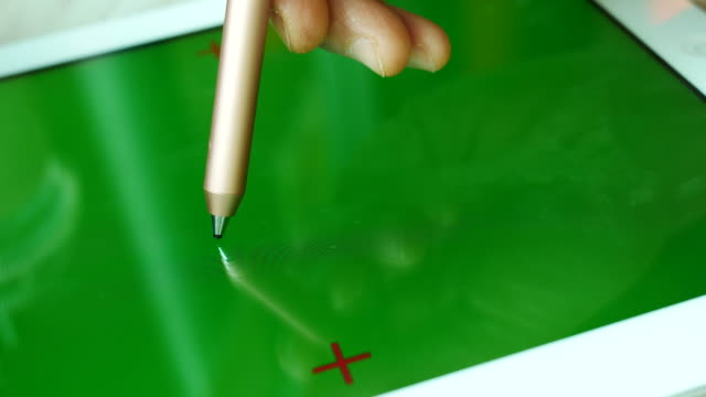 green screen digital tablet with digital pen - digitized pen stock videos & royalty-free footage