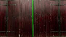 Green screen gates opening