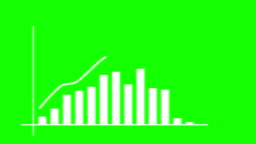 Green Screen Graph growth animation