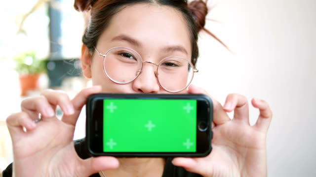 Green Screen Handheld Smartphone