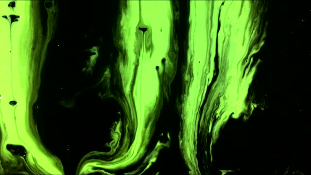 art paint stains and drops flows on black background - isolated colour stock videos & royalty-free footage