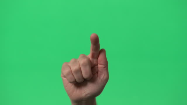 green screen - man interactive index finger  - tapping on glass - tapping stock videos & royalty-free footage