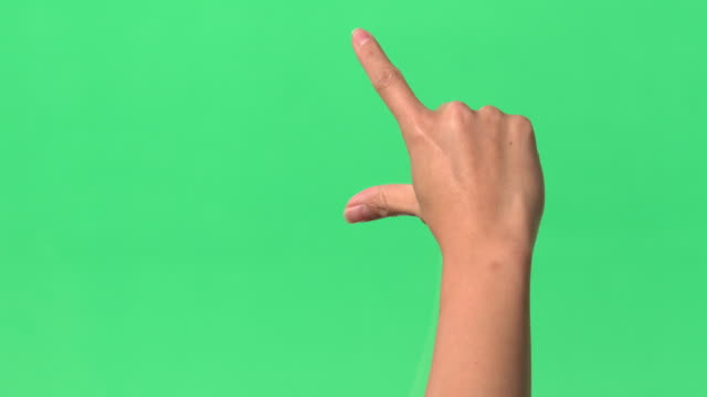 green screen - man interactive index finger  - tapping on glass - finger stock videos and b-roll footage