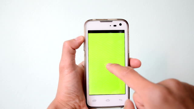 Pantalla verde de teléfono inteligente