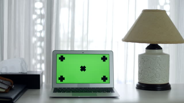 Green Screen on a Laptop