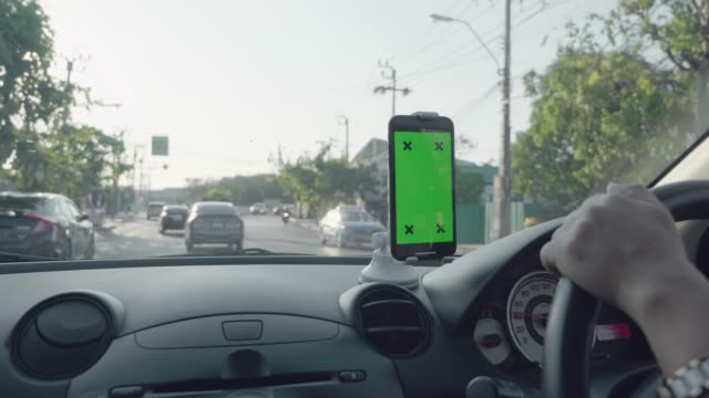 green screen phone in a car - template stock videos & royalty-free footage