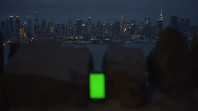 green screen smartphone background new york city - stone wall stock videos and b-roll footage